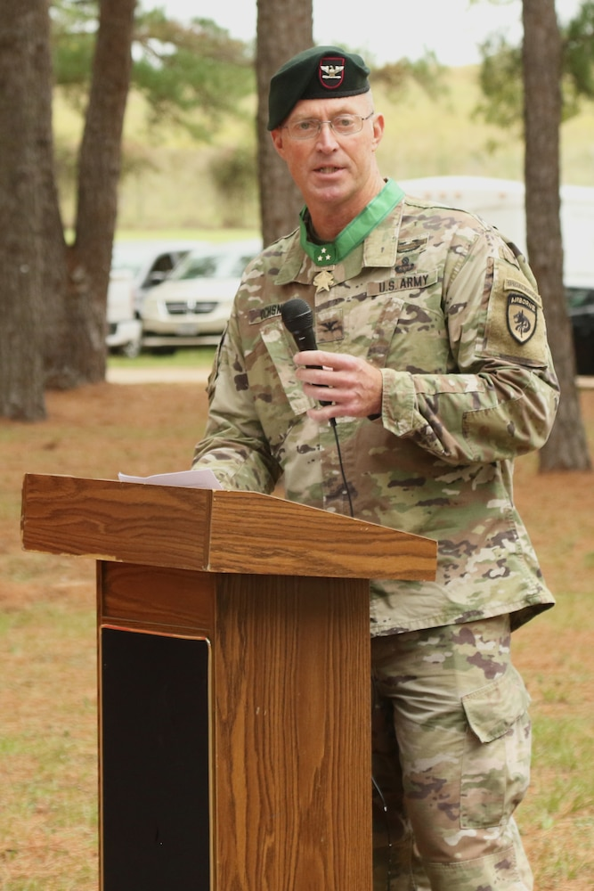 Green Beret commander prepares for retirement