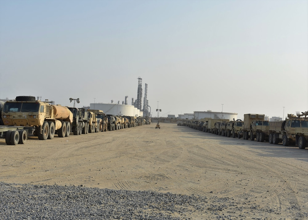 30th Armored Brigade Combat Team reunites with equipment in Kuwait