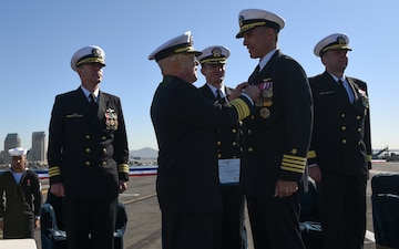 USS Theodore Roosevelt Holds Change of Command