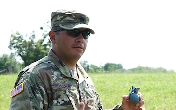 55th Maneuver Enhancement Brigade Soldiers take to the Grenade Range during Annual training