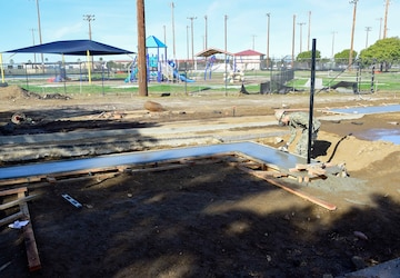 Seabees Place Concrete at Stinger's Field, Support Ongoing Project
