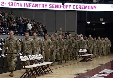 2-130th Infantry Regiment Prepares to Deploy to US CENTCOM Area of Responsibility