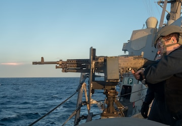 Sterett Sailors Conduct Live-Fire Exercise