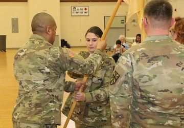 HHC, 1225th SB Outgoing commander