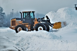 Snow removal operations at Fort McCoy