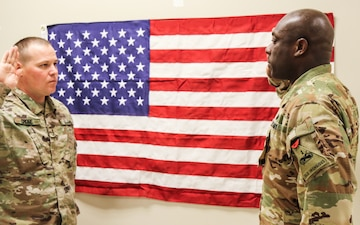 Staff Sgt. Carlinton Francis Reenlists