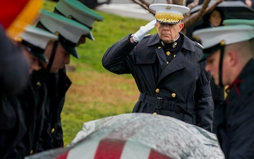 Former Marine Corps Commandant Gen. Paul X. Kelley laid to rest