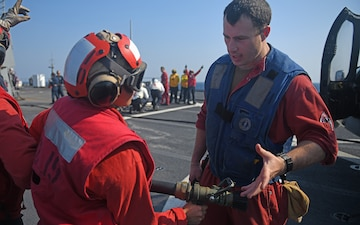 Blue Ridge Sailors Participate In Crash and Salvage Drill