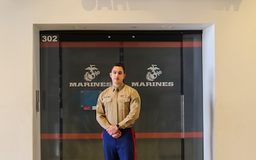 U.S. Marine Provides Lifesaving Act at High School Career Fair