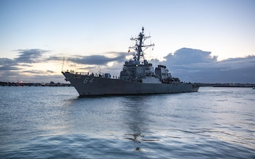 USS Carney Returns from Deployment