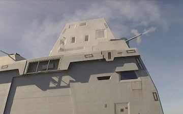 USS Zumwalt Completes First Live Fire Test