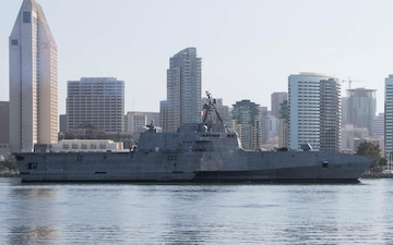 Future USS Kansas City (LCS 22) Arrives at San Diego Homeport