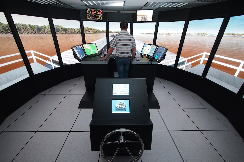 ERDC's Ship Tow Simulator used in civil works Navigation Research, Development and Technology