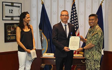 NUWC Division Newport science advisor receives Meritorious Civilian Service Award
