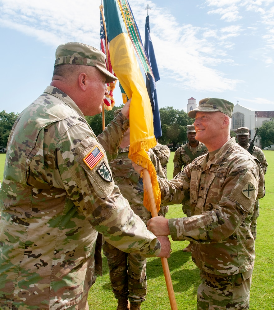 218th Maneuver Enhancement Brigade holds Change of Command Ceremony at The Citadel