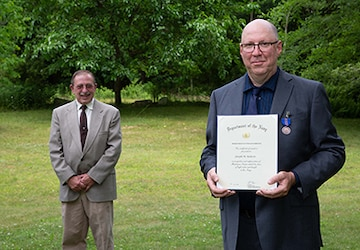 Retired NUWC Division Newport engineer receives Meritorious Civilian Service Award