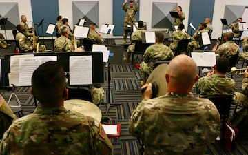 Florida Guard's 13th Army Band conducts rehearsals