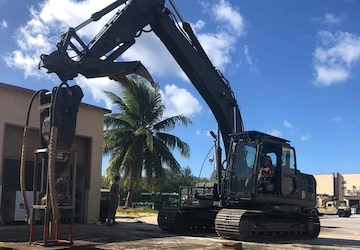 NMCB 1 Conducts Construction Operations in Guam