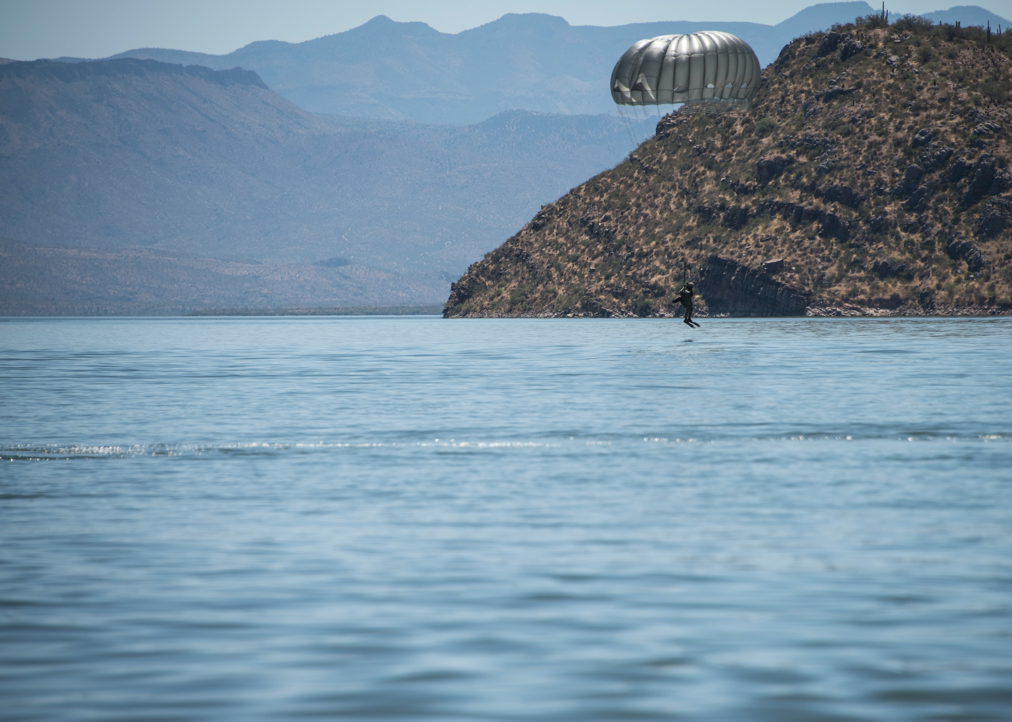 U.S Military • Freefall and Static Parachute Jumps • Theodore Roosevelt Lake, Arizona • 29 July 2020