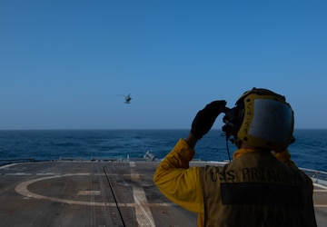 USS Princeton, HSC-6 conduct flight operations