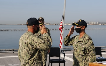 USS Gabrielle Giffords Blue Crew Change of Command