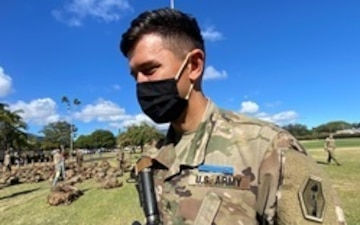 "TRUE BLUE Army Reserve Soldier represents the ""Pride of the Pacific,"" Aces the coveted Expert Infantry Badge"