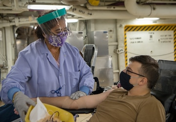 USS Carl Vinson (CVN 70) Sailors Donate Blood for the Armed Services Blood Program