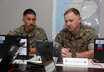 Task force Marines conduct planning exercise with partner nation military members