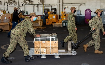 USS Carl Vinson (CVN 70) Conducts Ammunition Onload