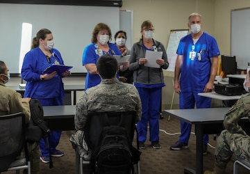 Service members integrate with Lodi Hospital staff members