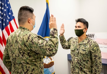ABE1 Reyes' reenlistment ceremony