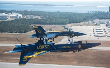 Blue Angels Flight Over NAS Pensacola