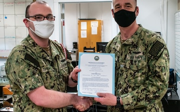 Naval Submarine School Sailor Meritoriously Advanced to Petty Officer First Class