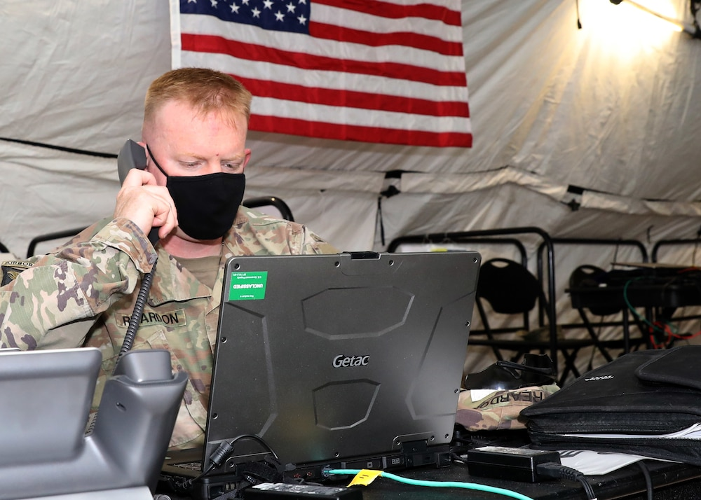 1st TSC validates expeditionary command post at Camp Arifjan exercise