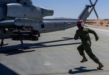 Marines safely disarm helicopter missiles