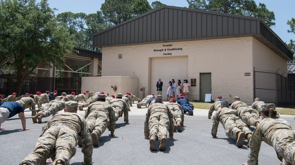24th Special Operations Wing dedicates training facility to Senior Airman Mark Forester