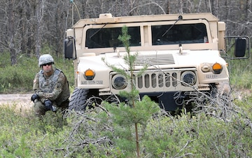 185th Combat Sustainment Support Battalion Solidifies Perimeter at Base Camp Hawkeye at Northern Strike 21
