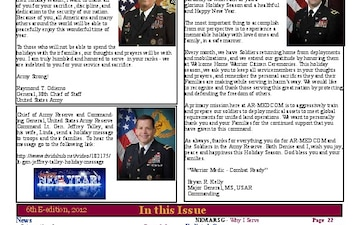AR-MEDCOM Warrior Medic Monthly Newsletter - 12.29.2012