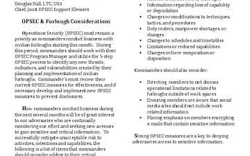 Purple Dragon OPSEC Newsletter - 08.02.2013