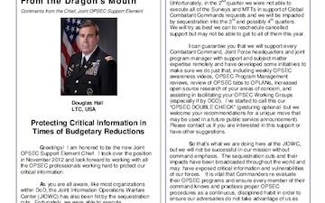 Purple Dragon OPSEC Newsletter - 04.09.2013