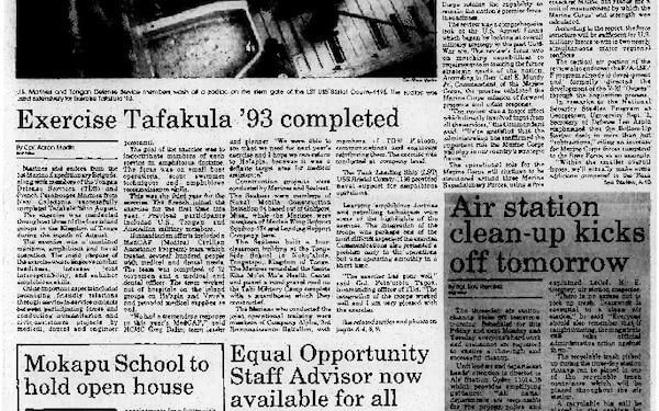 Hawaii Marine - September 9, 1993