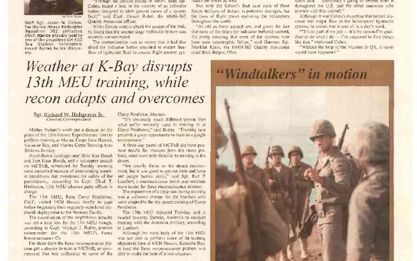 Hawaii Marine - August 24, 2000