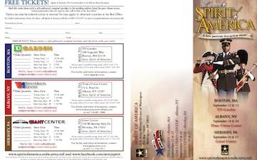 US Army's Spirit of America Ticket Brochure - 09.03.2014