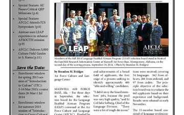AFCLC Quarterly Newsletter - 03.16.2015