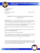 U.S. Army Reserve Command Press Release - 04.16.2015