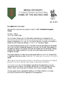 1st Infantry Division Press Releases - 01.18.2017
