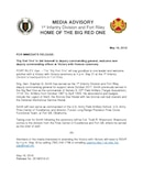 1st Infantry Division Press Releases - 05.16.2018