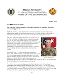 1st Infantry Division Press Releases - 06.05.2018