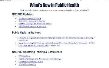 Navy and Marine Corps Public Health Center (NMCPHC) Publications - 10.22.2018