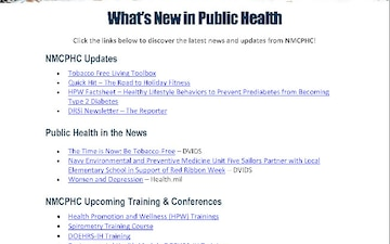 Navy and Marine Corps Public Health Center (NMCPHC) Publications - 11.27.2018